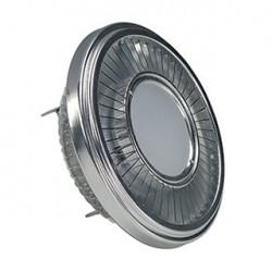 LED QRB111. gris argent. 19.5W. 140 degrés. 2700K. variable